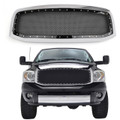 Mesh Style Front Hood Grille Rivet For Dodge Ram 1500/2500/3500 06-08 Chrome