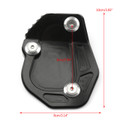 Kickstand Side Stand Enlarger Plate Pad For BMW R NINE T (2017) Black