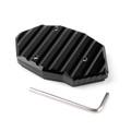 Kickstand Side Plate Stand Extension Pad For Kawasaki Z650 Z900 (17-18)VERSYS650 (07-09) Z1000/SX (10-17) Black