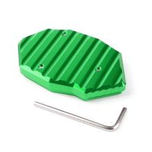 Kickstand Side Plate Stand Extension Pad For Kawasaki Z650 Z900 (17-18)VERSYS650 (07-09) Z1000/SX (10-17) Green