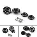 CNC Frame Hole Cover Page Hole Cap Cover Plug Bolt Kit For Kawasaki Z900 (2017) Black
