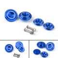 CNC Frame Hole Cover Page Hole Cap Cover Plug Bolt Kit For Kawasaki Z900 (2017) Blue