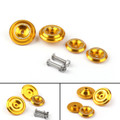 CNC Frame Hole Cover Page Hole Cap Cover Plug Bolt Kit For Kawasaki Z900 (2017) Gold