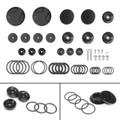 Frame Hole Caps Decor Cover 1 Set Aluminum For BMW R 1200 GS ADV LC (2014-2015) Black