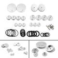 Frame Hole Caps Decor Cover 1 Set Aluminum For BMW R 1200 GS ADV LC (2014-2015) Silver