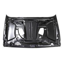 Jeep Wrangler 10th Anniversary Rubicon JK 07-18 Front Hood Steel Hard Rock Style, Black (C127-B008-Black)