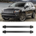 4 Door Roof Rack Cross Bars Rail Luggage Carrier For Jeep Compass (2011-2016) Black (C128-002-Black)
