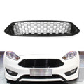 Front Bumper Grille For Ford Focus (2015-2016) GBlack (Grille-215-GBlack)