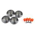 4x Turn Signal Lens Bulbs For Harley Road King Touring Glide (1986-2007) Smoke