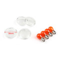 4x Turn Signal Lens Bulbs For Harley Softail Dyna Sportsters (2002 &Up) Clear