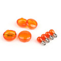 4x Turn Signal Lens Bulbs For Harley Softail Dyna Sportsters (2002 &Up) Orange
