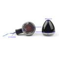 Turn Signal Bullet Lights Motor Universal For Kawasaki Vulcan 800 Yamaha Road Star, BlackC