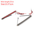 43mm-46mm Fork LED Turn Signal Strip Amber Light Kit Universal For Harley Victory Honda