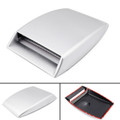 Universal Car Decorative Air Flow Intake Scoop Turbo Bonnet Vent Cover Hood, Silver (C103-004-Silver)