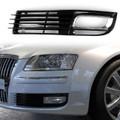 ABS Car Lower Bumper Grille Fog Light Grill w/Chromed For Audi A8 D3 08-10 Left