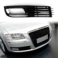 ABS Car Lower Bumper Grille Fog Light Grill w/Chromed For Audi A8 D3 08-10