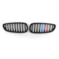 Kidney Grille M Power Color Striped For BMW Z4 E89 (2009-2016) Matte Black