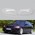 Pair Headlight Headlamp Lens Cover For BMW 3 Series E90 (06-12) Clear