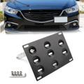 Front Bumper Tow Hook License Plate Mounting Bracket Holder For Mazda3 Mazda6