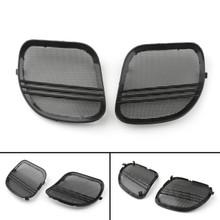 Tri-Line Speaker Cover Grills For Harley Road Glides (2015-2018) Black