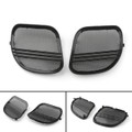 Tri-Line Speaker Cover Grills For Harley Road Glides (2015-2018) Black