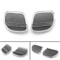 Tri-Line Speaker Cover Grills For Harley Road Glides (2015-2018) Chrome