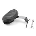 Driver Rider Seat Backrest Pad For Harley Fatboy Heritage Softail (2007-2017) Chrome