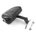 Adjustable Driver Rider Backrest Pad For Harley Fatboy Heritage Softail (07-17) Black