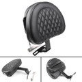 Driver Rider Backrest Pad For Harley Fatboy FLSTF Heritage Softail (07-17) Black