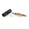 1PC 3.5mm 4 Pole TRRS Stereo Male Audio Plug Connector For Headphone, Black