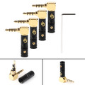 4PCs 3.5mm 4 Pole TRRS 90¡ãStereo Male Audio Plug Connector For Headphone, Black