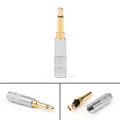 1PC 3.5mm 2 Pole TS Mono Plug Male MINI Connector For Headphone Adapter, Silver