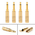 4PCs 3.5mm 2 Pole TS Mono Plug Male MINI Connector For Headphone Adapter, Gold