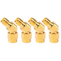 4PCs SMA Female to RP-SMA Male Connector 45 Degree 135 Angle Adapter For FPV