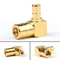 1PC SMB Male to SMB Female M/F Right Angle 90 Degree RF Adapter Connector