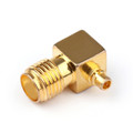 1PC SMA Female Jack to MMCX Male Right Angle 90¡ãPlug RF Coaxial Connector
