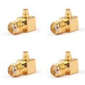 4PCs SMA Female Jack to MMCX Male Right Angle 90¡ãPlug RF Coaxial Connector