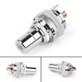 1PC Red RCA Female Socket Chassis Connector Rhodium Plated Copper Jack