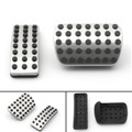 2PCS Stainless Brake Accelerator Pedal Pads Covers SET A1643000082 For Benz AMG Black