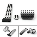 3PCS Foot Brake Pedal Pads Covers For Benz C E S GLK SLK CLS SL Class Sport Black