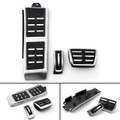 Footrest Fuel Brake AT Pedals Plate Cover Set For Audi A4L A6L A5 A7 Q5 LHD Black