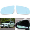 1Pair Side Rearview Mirror Glass For Audi A4 B6 B7 A6 C6 05-08