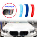 3PCS Kidney Grille M Tech Tricolor Cover Stripe Clips For BMW E87 04-11