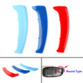 M Color Kidney Grille Bar Cover Stripe Clip Decal For BMW 1 Series E87 04-11