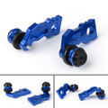 Aluminum CNC Swingarm Spools Adapter Mounts For Kawasaki Z900 2017 Blue