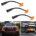 3PC LED Light For FIT Ford F-150 F150 Raptor Style Grille Grill 15-17