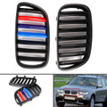 M Power Kidney Grille For BMW X3 E83 LCI Facelift 07-08-09-10 Matte Black / Gloss M Color