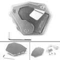 Side Pad Kickstand Stand Extension Plate For Honda CRF1000L Africa Twin 16-17 Silver