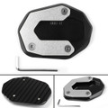 Kickstand Side Stand Plate Extension Pad for Ducati Scrambler 800 2015-2017 Black