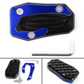 Kickstand Side Stand Plate Extension Pad For Yamaha TMAX T-MAX 530 DX 17-18 Blue